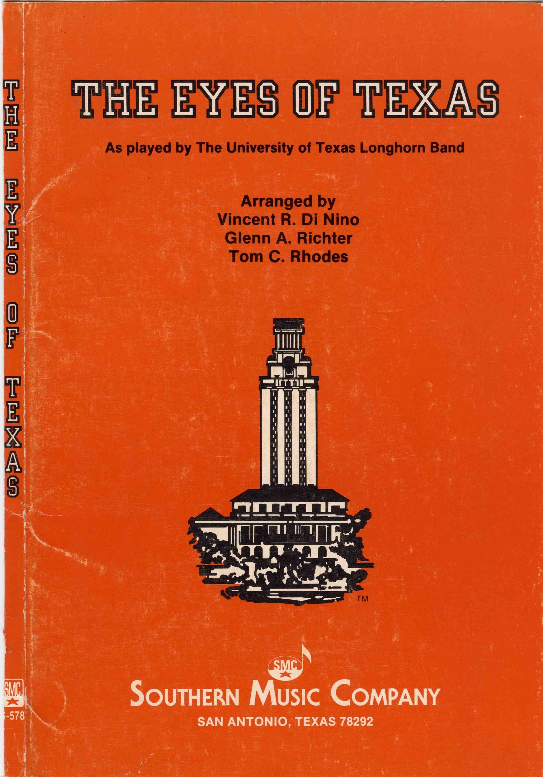 Eyes of Texas band sheet music cover