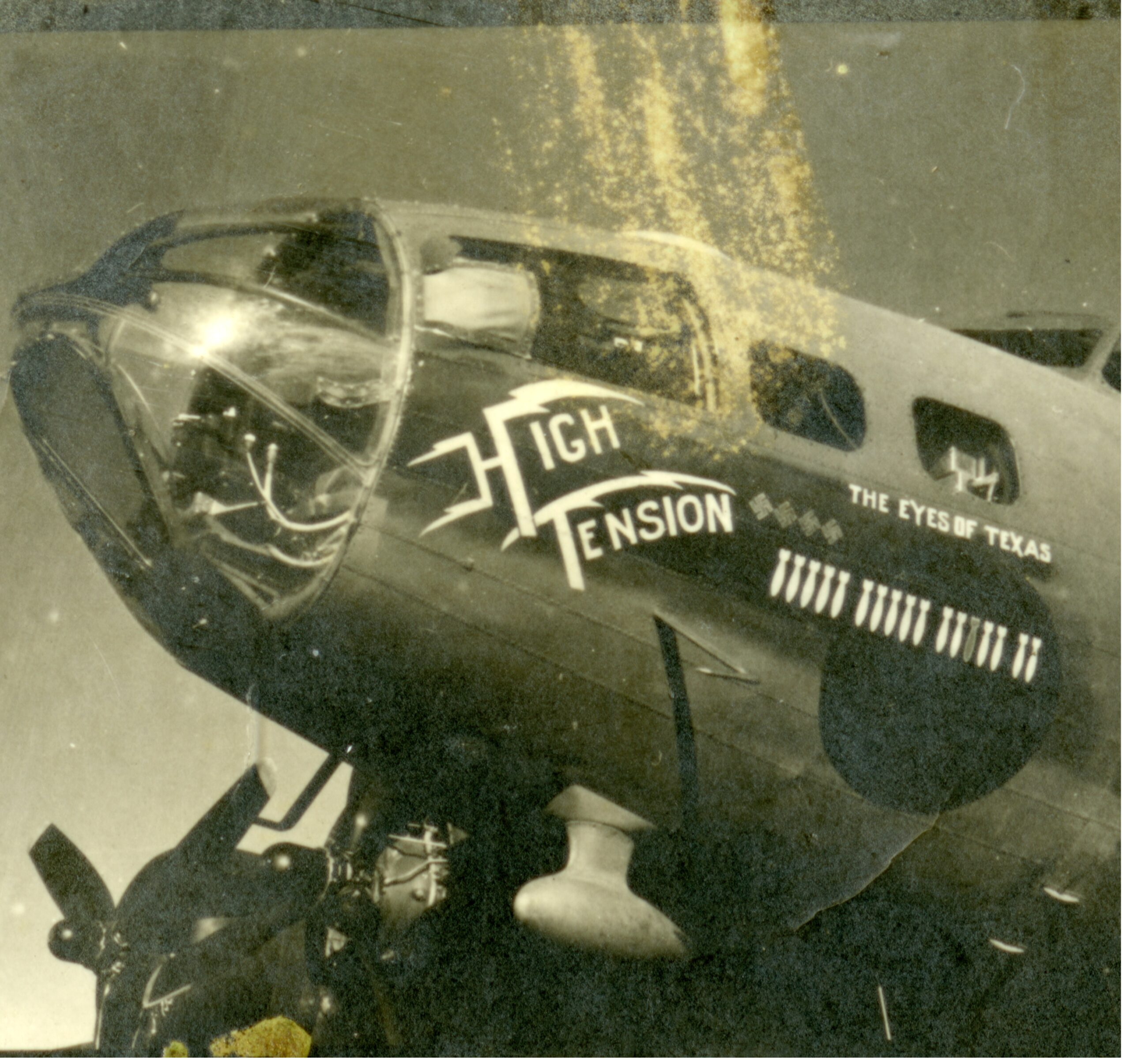 The B-17 Flying Fortress 'High Tension,' also known as 'The Eyes of Texas.'